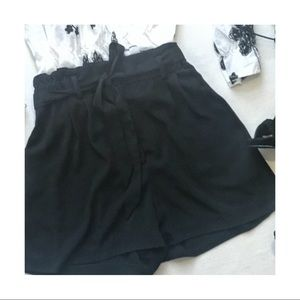 Paper Bag High-Waisted Tie-Up Shorts